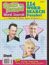 Stars On Parade Word Search kansi