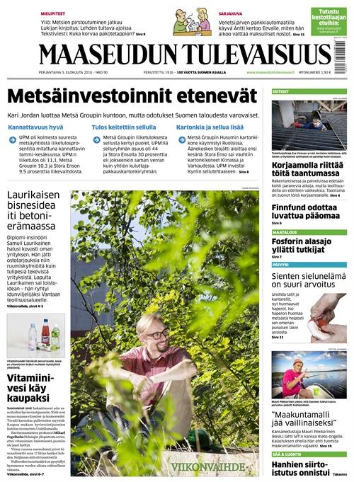 suomi lappeenranta maaseudun tulevaisuus toimitus