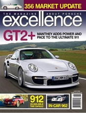 Excellence, A Magazine About Porsche Cars kansi