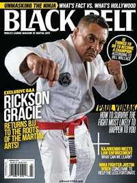 Black Belt Magazine kansi