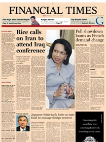 Financial Times (europe Ed.) Newspaper (e-paper) Mon-sat (finland) kansi